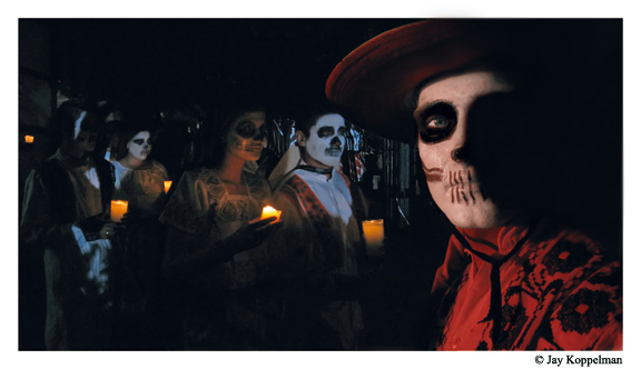 Day of the Dead ceremonies in Chapala, Mexico.