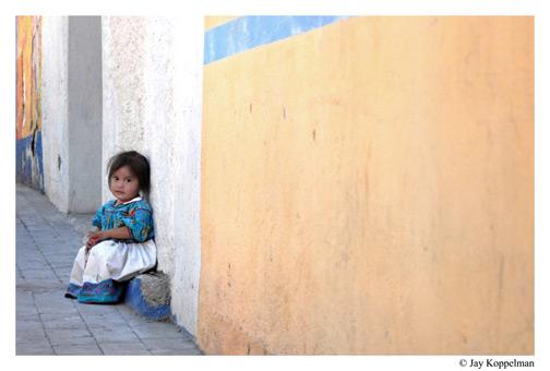 Huichol indigenous girl in Ajijic, Mexico.