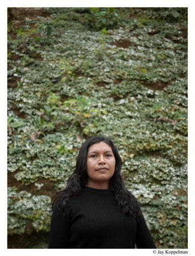 Shuar indian woman in the Amazon Jungle of Ecuador.