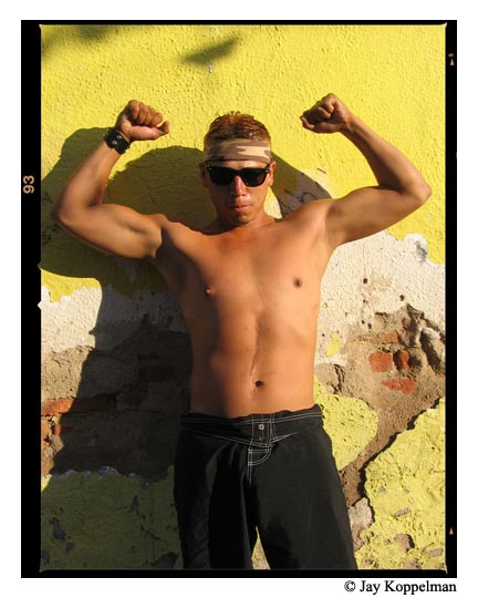 A gang member in Guadalajara, Mexico.