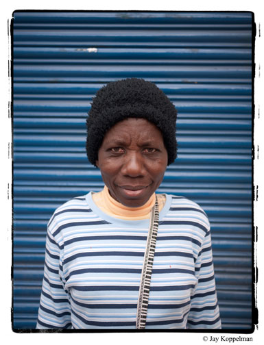 Street portrait of a black woman in Quito, Ecuador. African american woman in latin america.