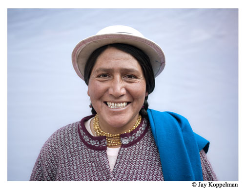 Woman smiling. Ecuador