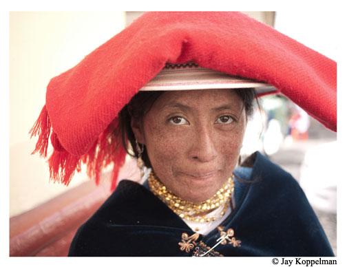Indigenous ecuadorian girl.